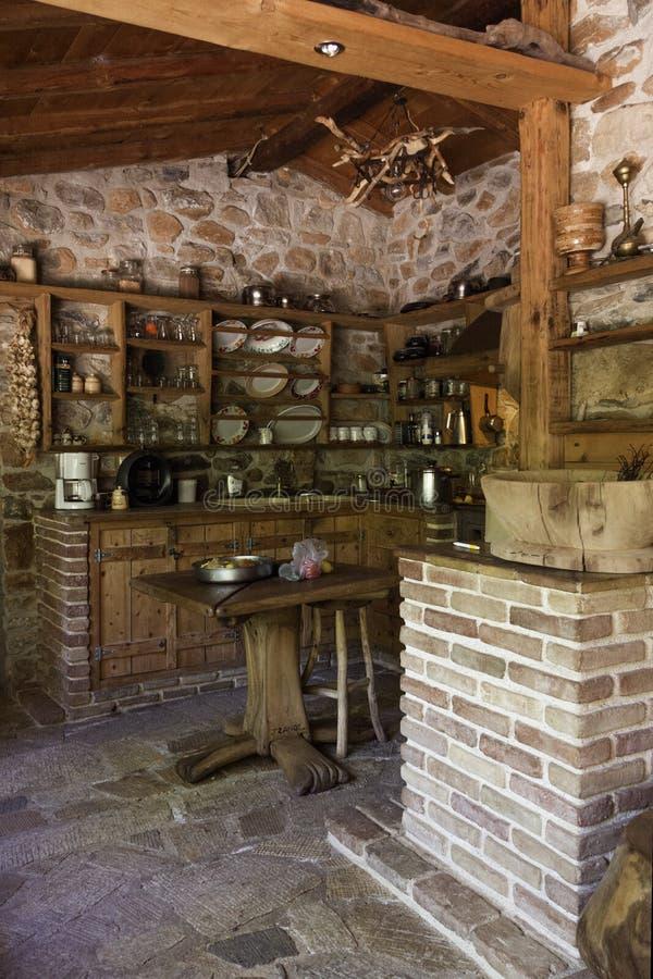 木厨房 免版税库存图片