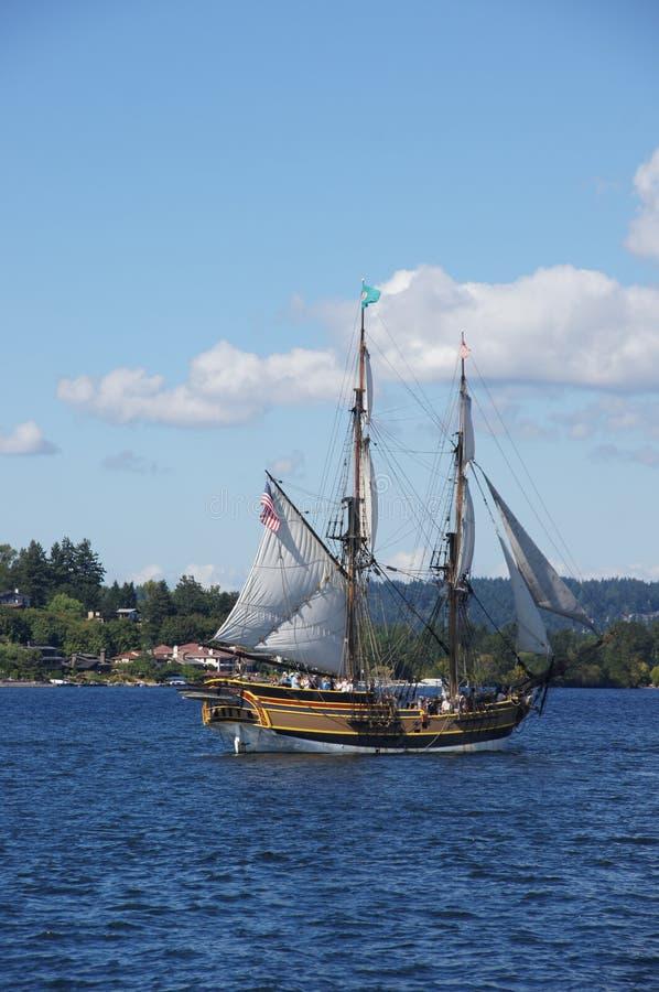 木双桅船,华盛顿夫人 免版税库存图片