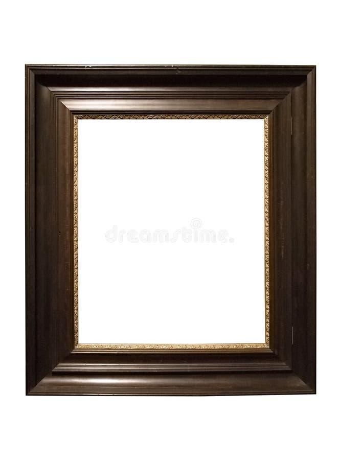 木变老的黑暗的框架照片的照片 图库摄影