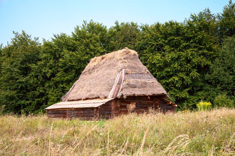 木古老的房子 库存照片