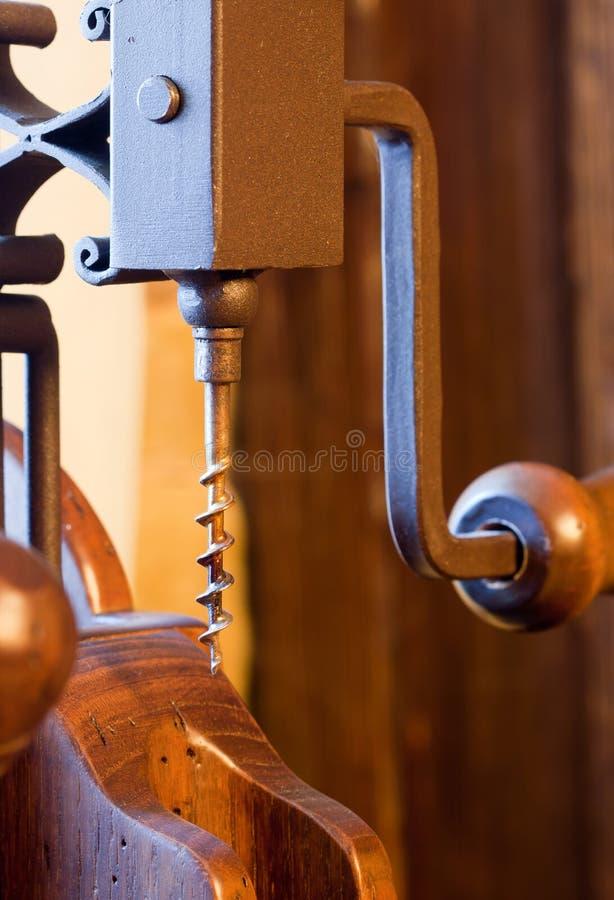 木古色古香的拔塞螺旋 免版税库存照片
