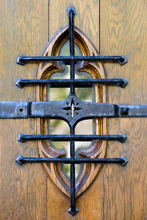 木古色古香的门 库存照片