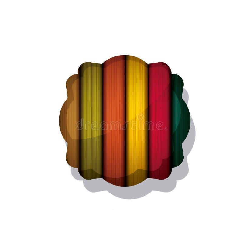 木和镶边多彩多姿的框架设计 向量例证