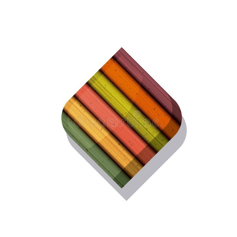 木和镶边多彩多姿的框架设计 皇族释放例证
