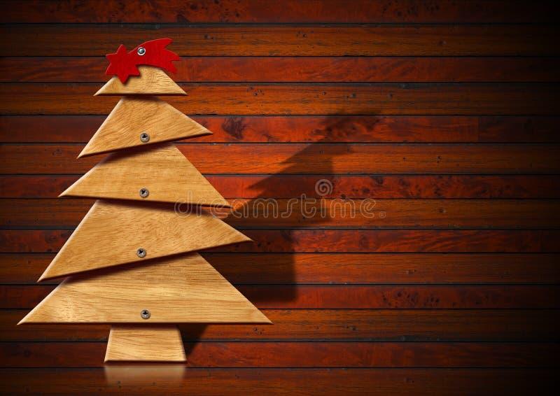 木和风格化圣诞树 皇族释放例证