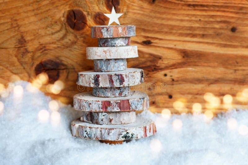 木圣诞树 库存图片