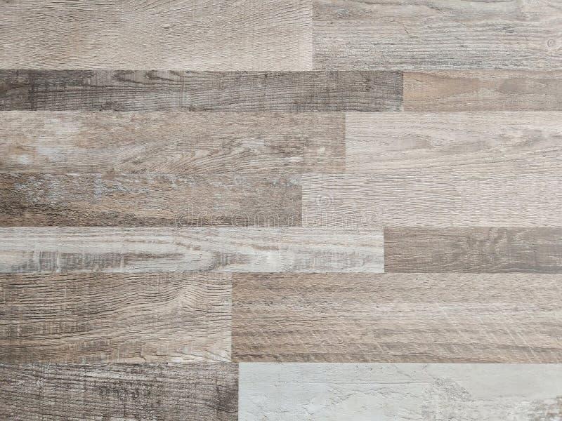 木地板纹理背景,光滑的褐色层压制品木头地板顶视图  免版税库存图片