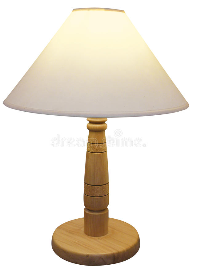 木基于的灯罩 库存照片