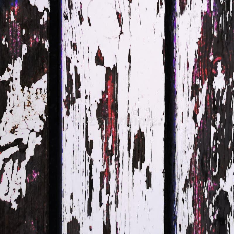 木墙上白色的鳞片 图库摄影