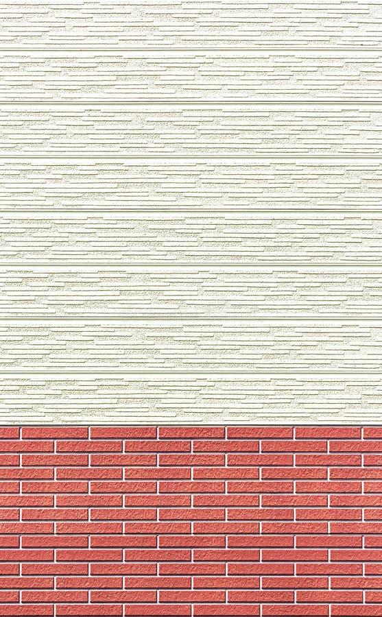 木墙壁和砖墙背景或纹理 图库摄影
