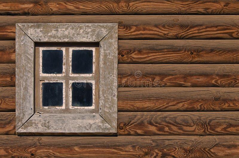 木墙壁小屋 库存图片