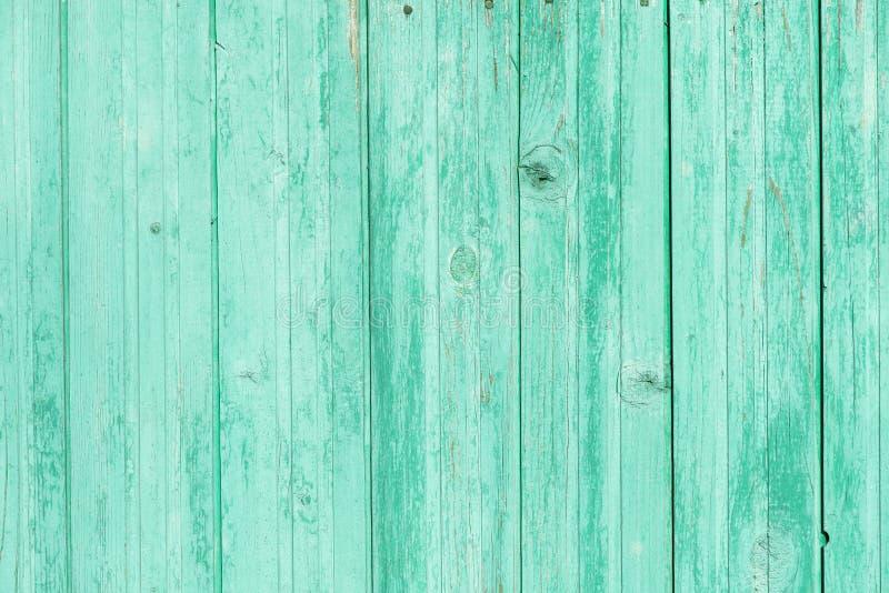 木墙壁篱芭背景蓝色 免版税图库摄影