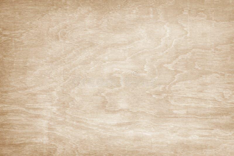 木墙壁纹理背景,在水平的浅褐色的自然波动图式摘要 免版税库存图片