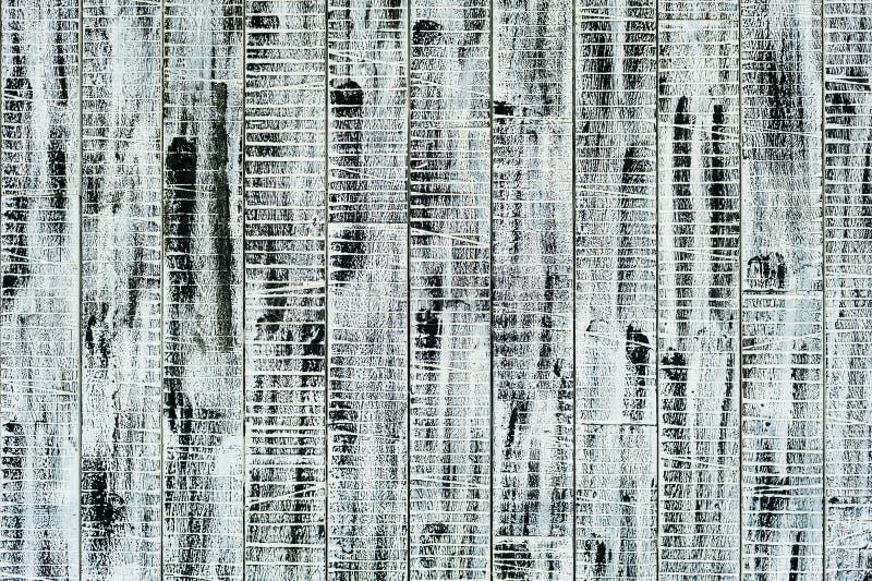 木墙壁被绘的黑白油漆 库存照片