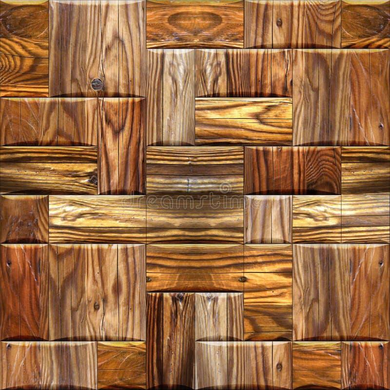 木墙纸装饰墙壁-无缝的背景纹理 库存图片