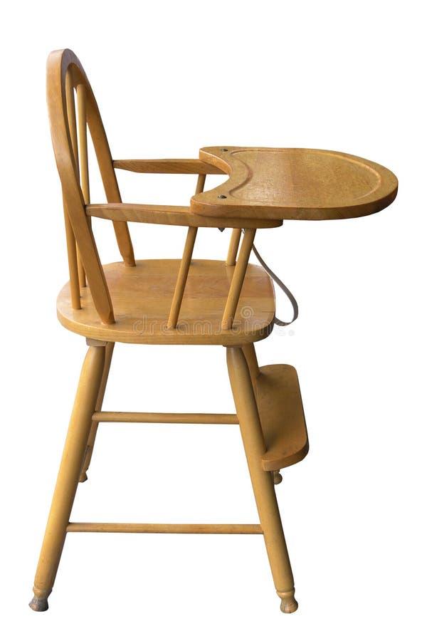 木婴孩的高脚椅子s 免版税库存照片
