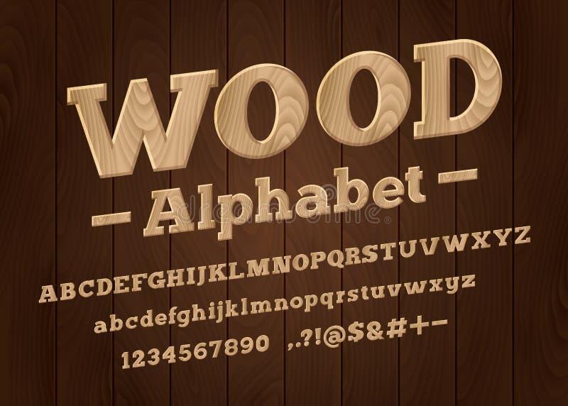 木字体 向量例证