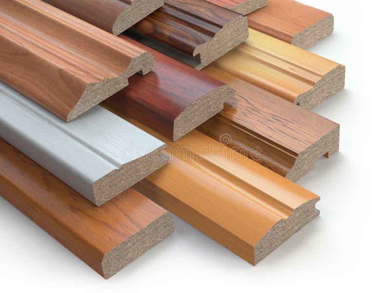 木家具MDF外形,另外中等densi样品  皇族释放例证