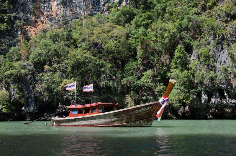 木小船,泰国 库存图片