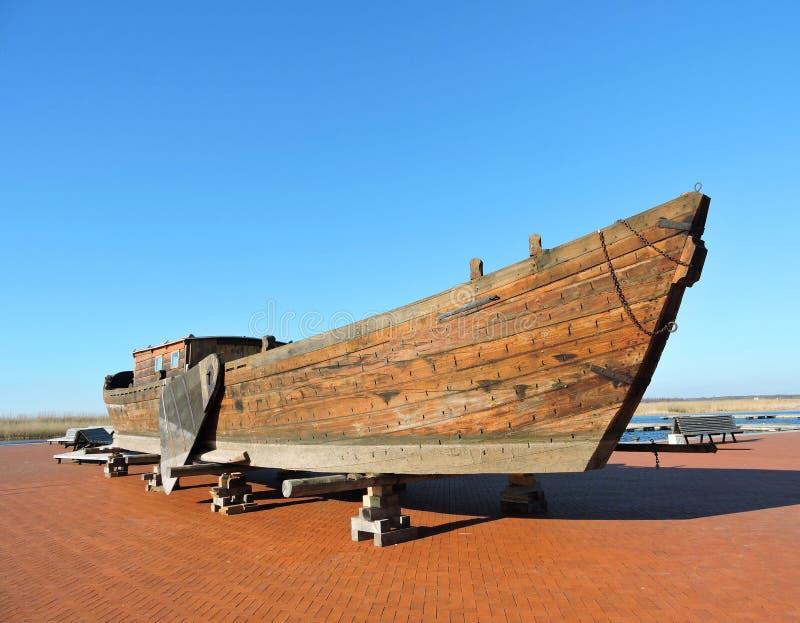 木小船,立陶宛 库存照片