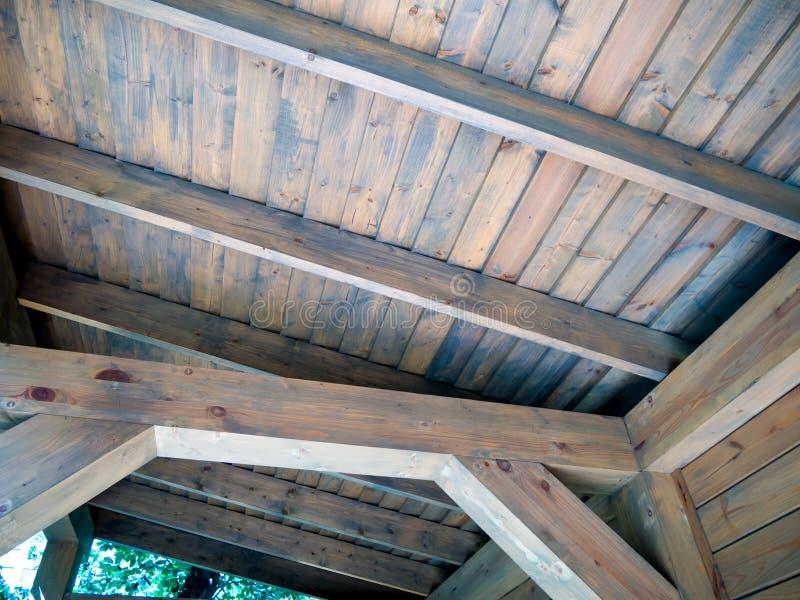 木屋顶建筑,从屋子的看法 库存图片