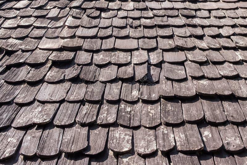 木屋顶纹理背景 免版税库存图片
