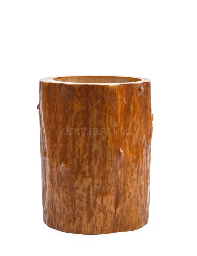 木工艺& x28; 杯子,碗,匙子, scoops& x29;在白色背景 免版税库存照片