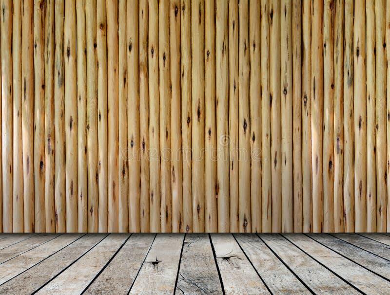木平台和木墙壁 免版税库存图片