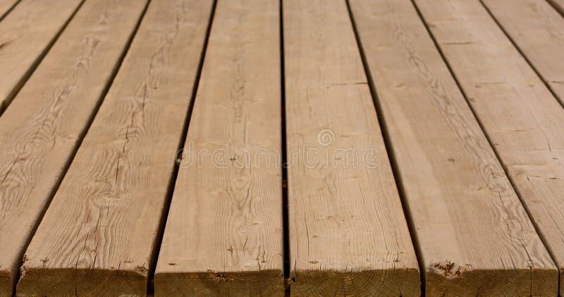 木平台或板条大阳台 库存照片