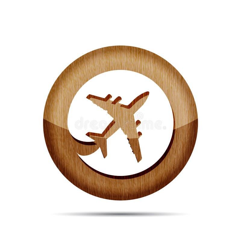 木平的飞机图表 皇族释放例证