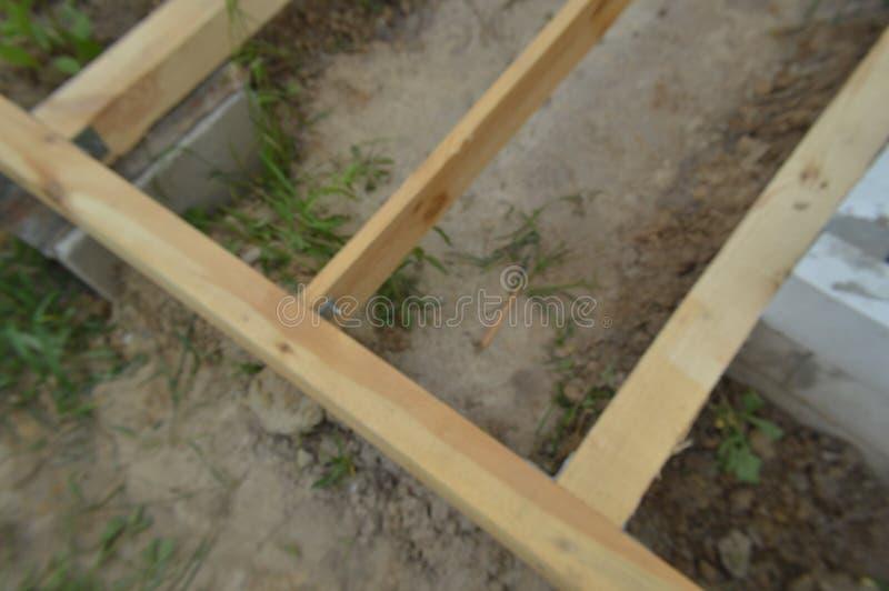 木建筑和单位 库存图片