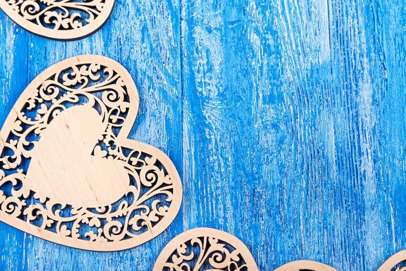 木心脏在华伦泰` s天 免版税图库摄影