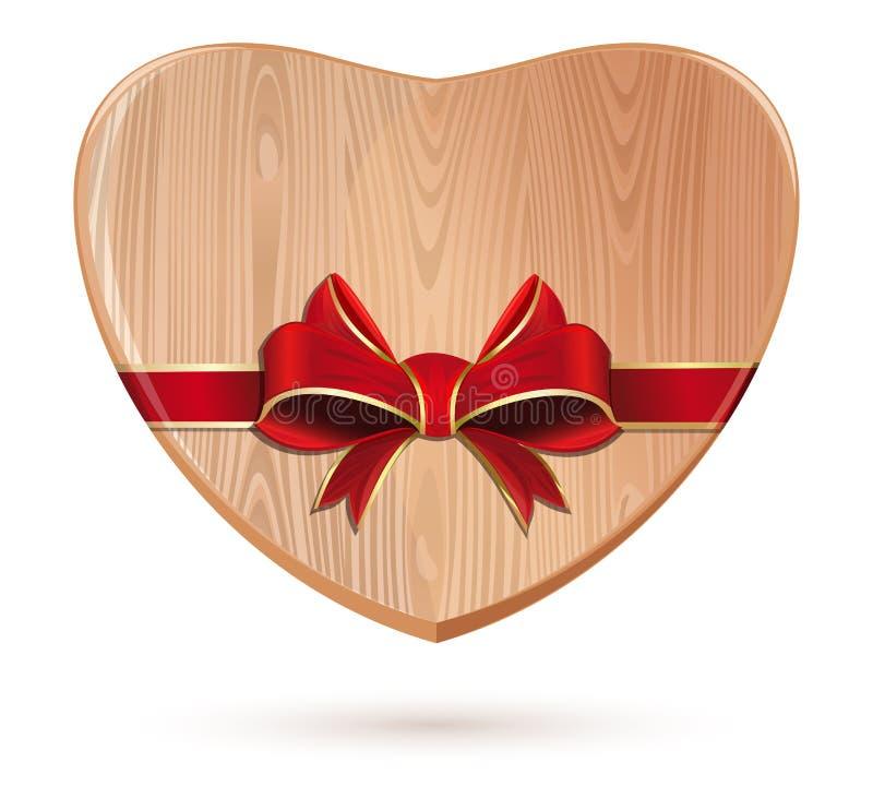 木心脏栓与红色丝带 皇族释放例证