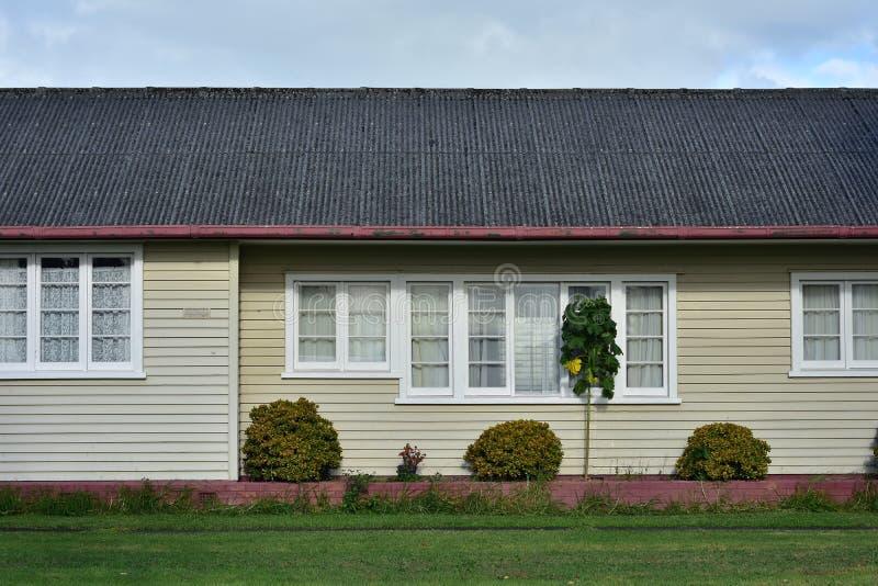 木房子侧面墙  免版税库存照片