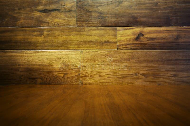木抽象的背景 - 地板和墙壁 免版税库存图片