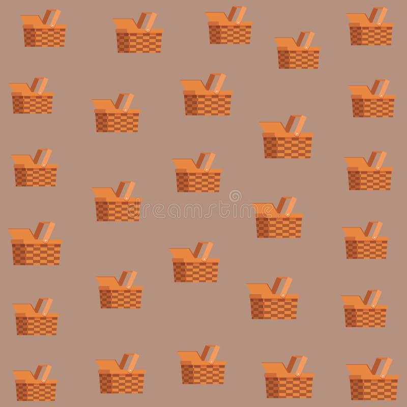 木抽象背景篮子纹理的柳条 皇族释放例证