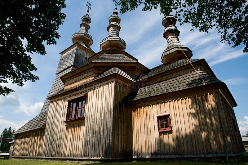 木教会的ladomirova 免版税图库摄影