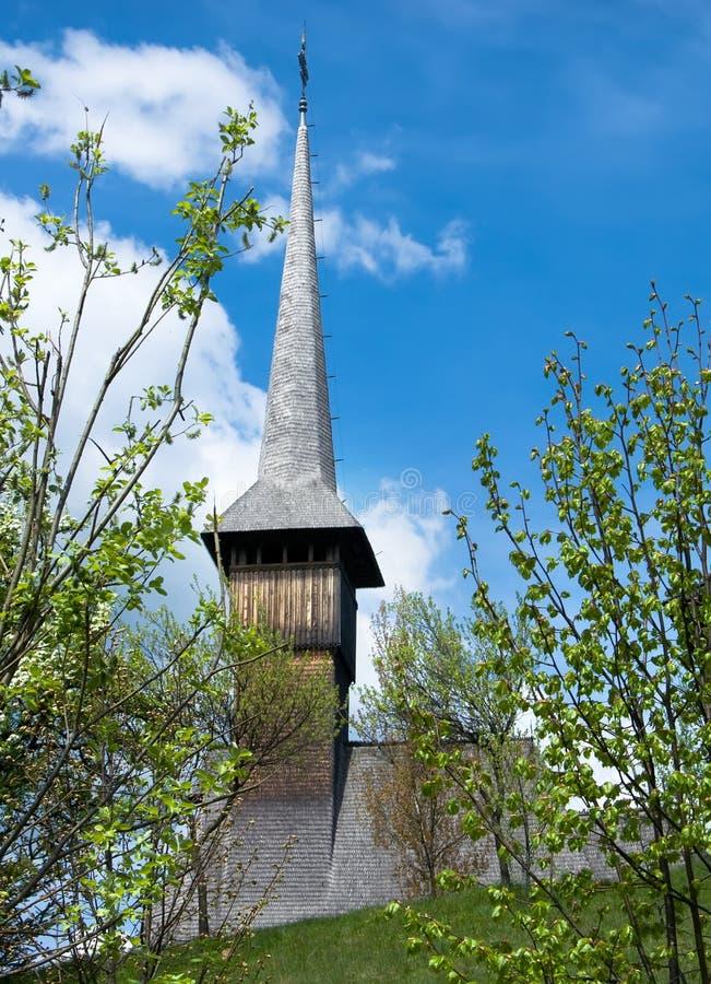 木教会的maramures 库存照片
