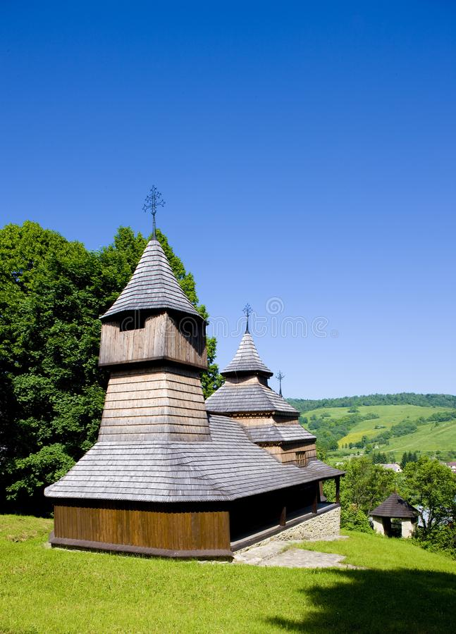 木教会,卢科夫,斯洛伐克 免版税库存照片