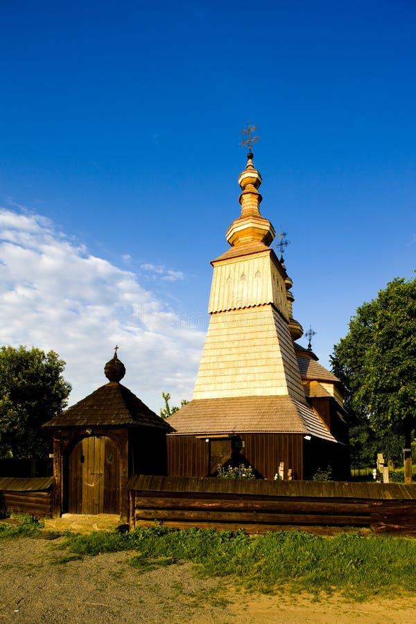 木教会,Ladomirova,斯洛伐克 图库摄影