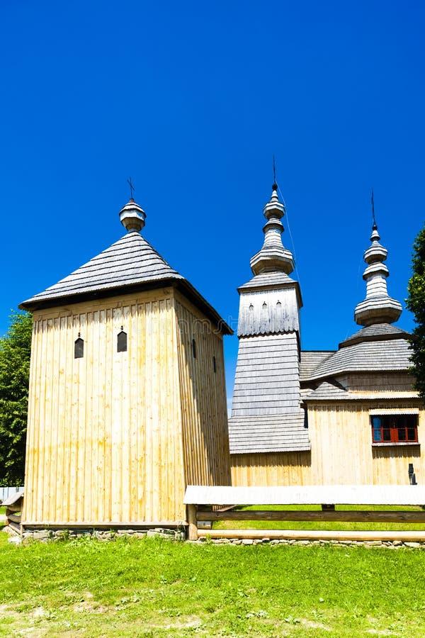 木教会,Ladomirova,斯洛伐克 免版税库存照片