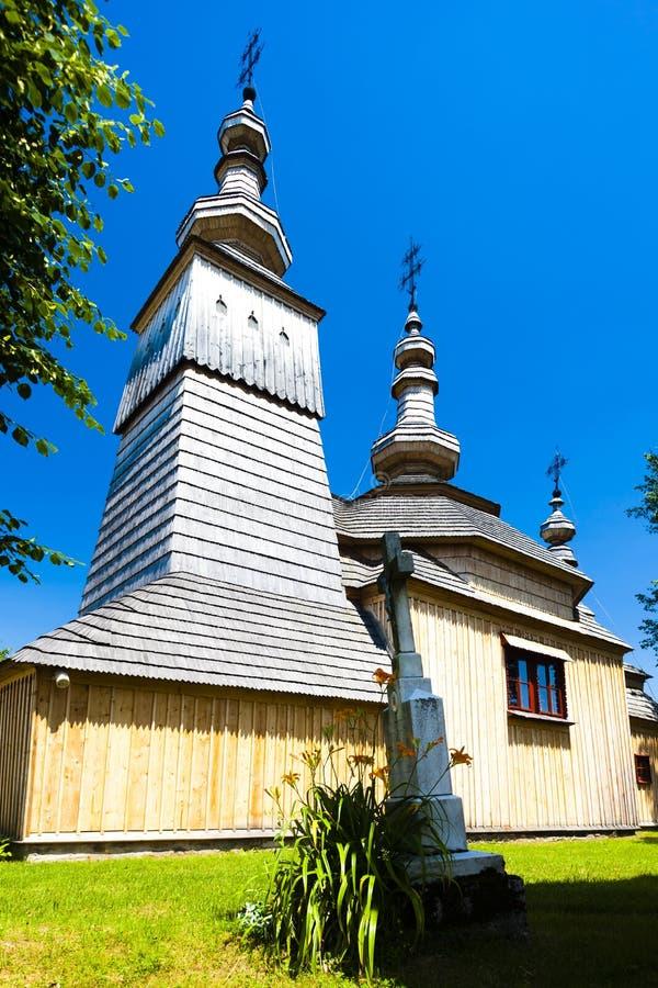 木教会,Ladomirova,斯洛伐克 免版税图库摄影