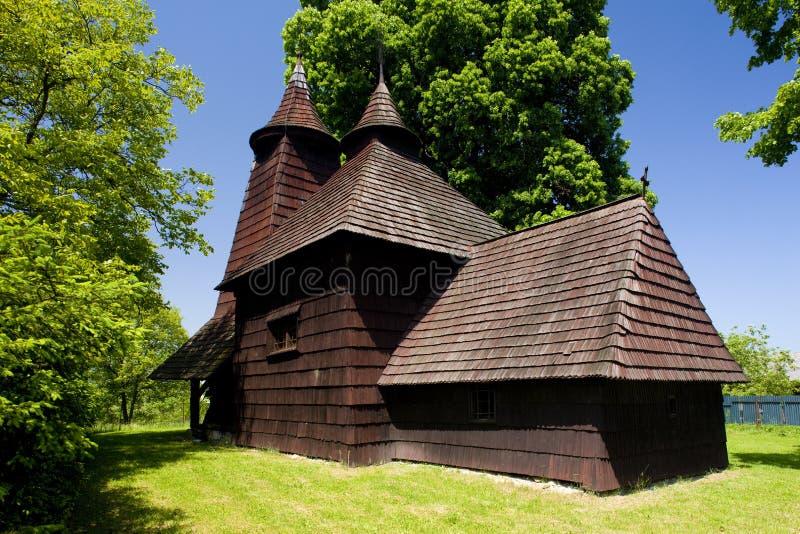 木教会,Trocany,斯洛伐克 免版税库存图片