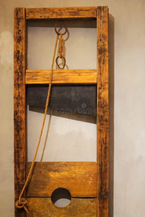 木断头台在布拉格 库存照片