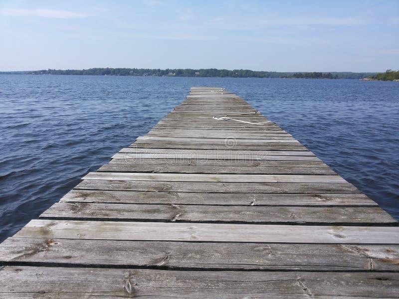 木方式到水里 免版税库存图片