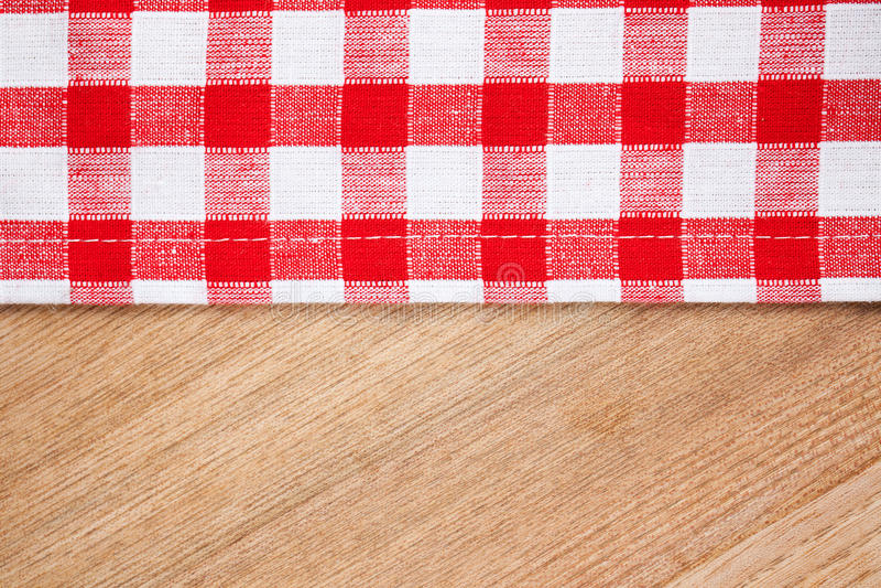 木方格的表的桌布 图库摄影
