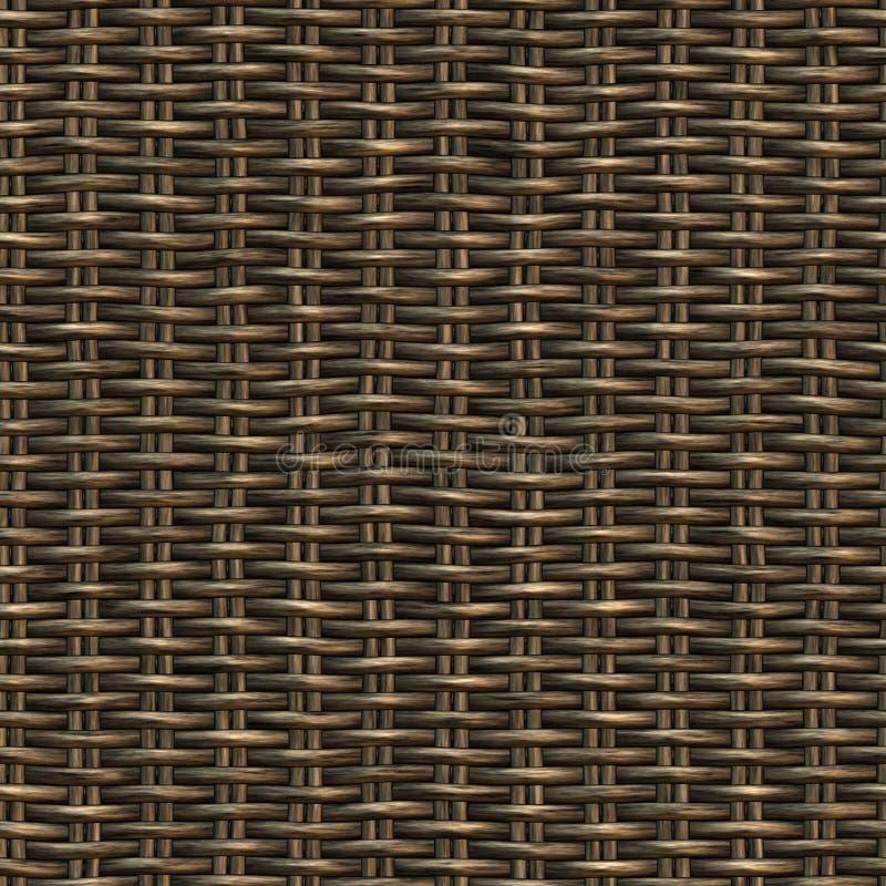 木无缝的被编织的斜纹布 向量例证