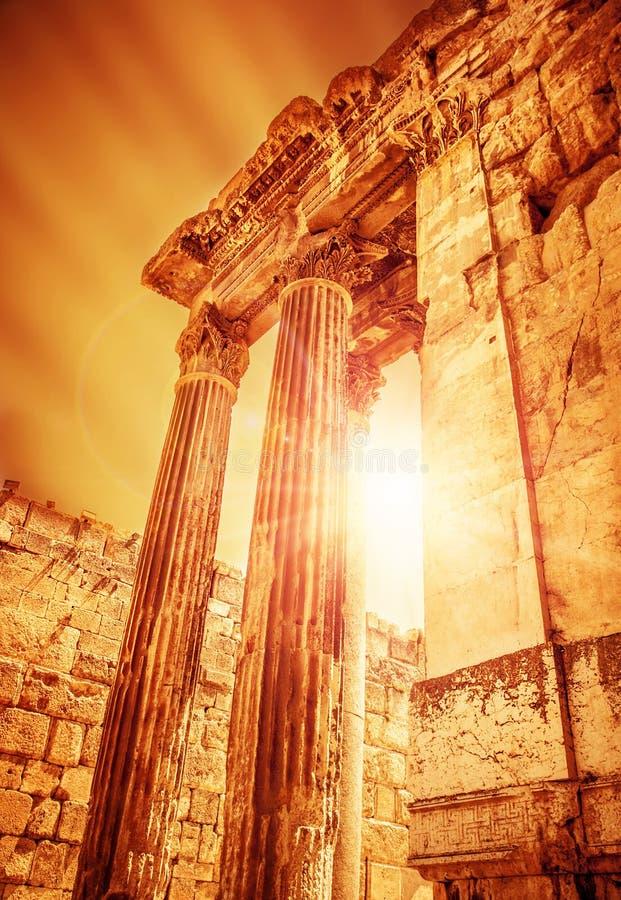 木星古老罗马市寺庙  库存图片