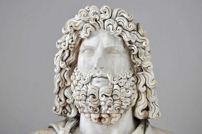 木星罗马雕象  免版税库存图片