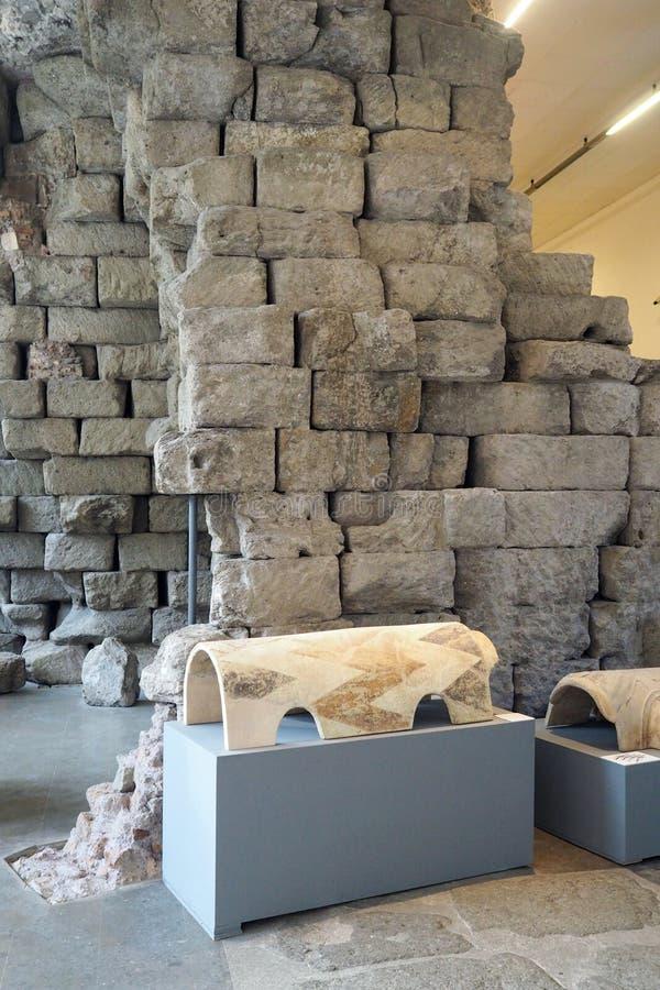 木星Capitolinus在Capitoline博物馆,罗马,意大利寺庙  库存照片